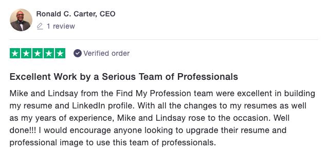Findmyprofession Trustpilot Review