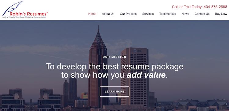 Robin's Resumes - Best Atlanta Resume Service
