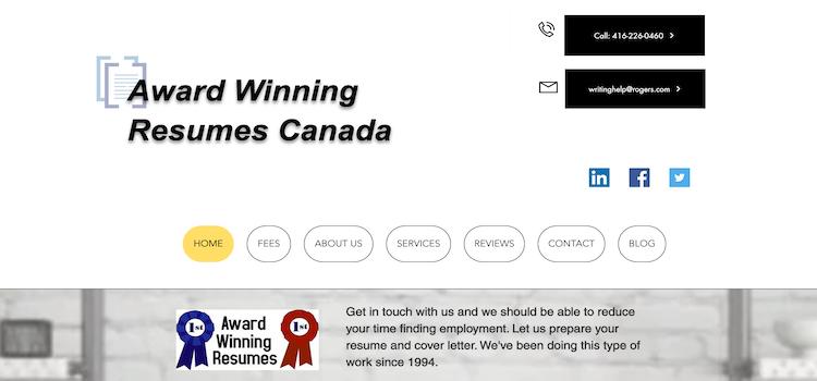 Award Winning Resumes - Best Toronto Resume Services