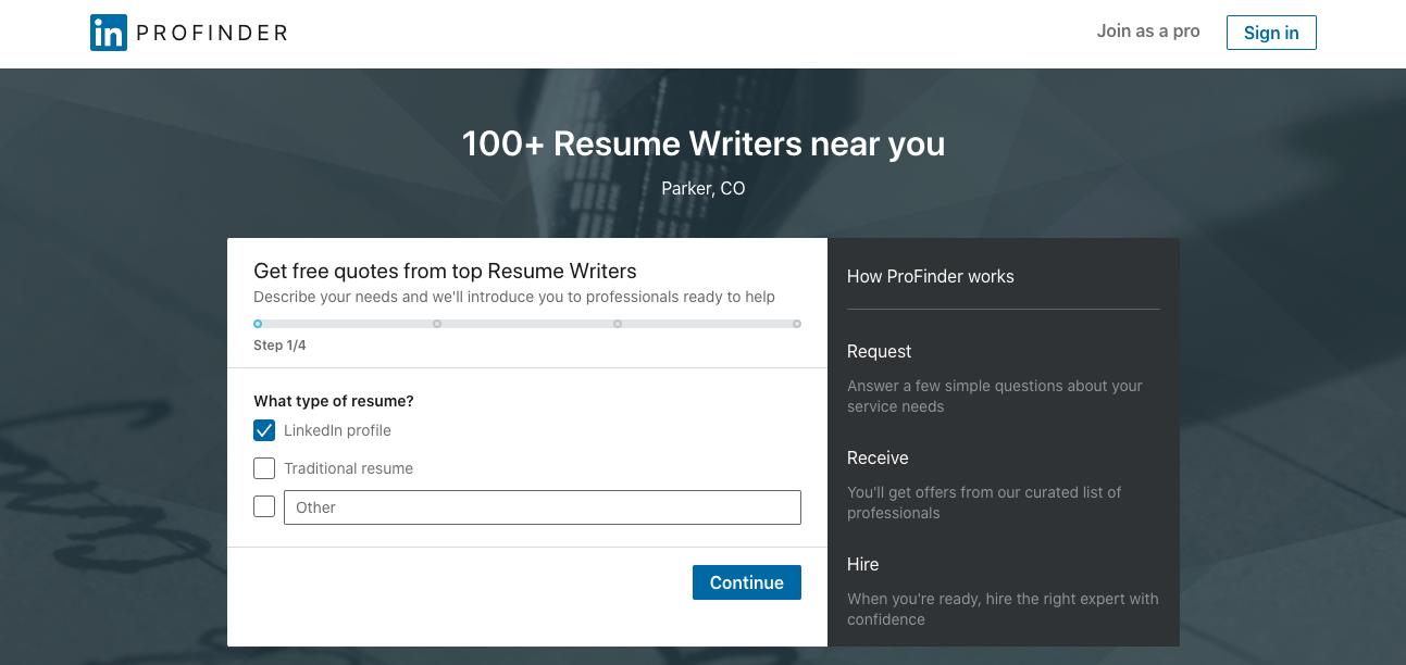 LinkedIn ProFinder - LinkedIn Profile Writing Services