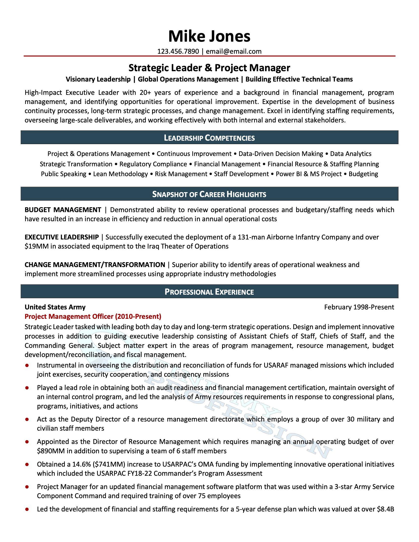 Best Affordable Resume Service - Sample 1