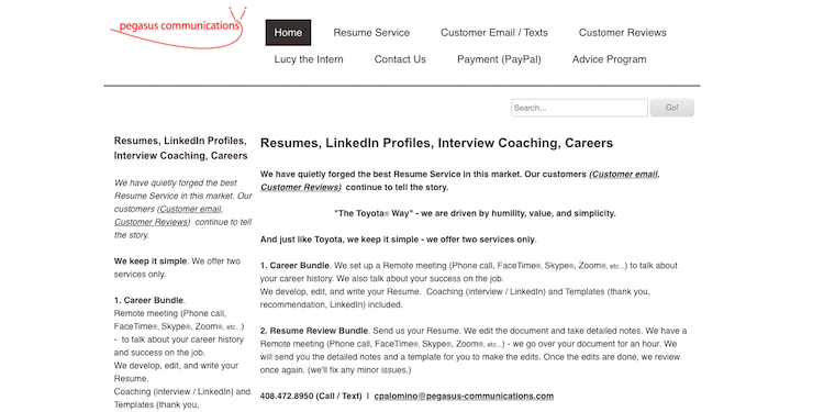 Pegasus Communications - Best Silicon Valley Resume Services