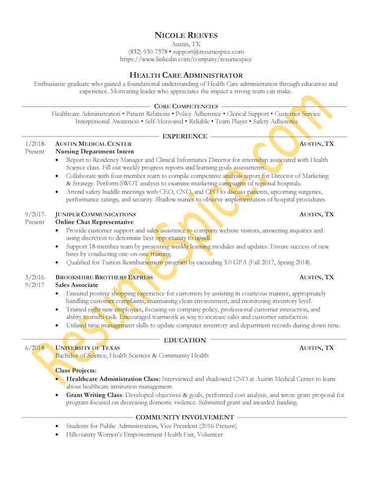 ResumeSpice - Resume Sample
