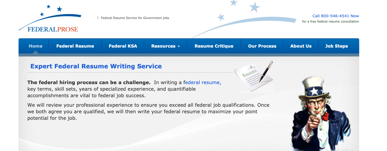 Federal Prose - Federal Resume Writing Services