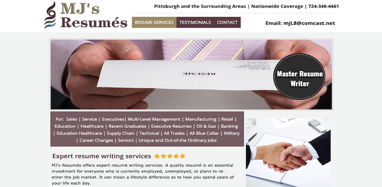 MJ's Resumes - Best Resume Service for Older Workers