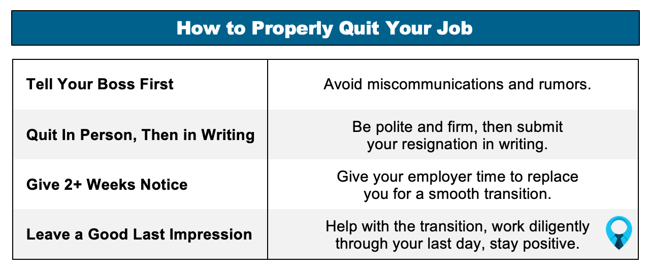 How To Properly Quit A Job