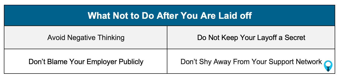 What not to do after a layoff