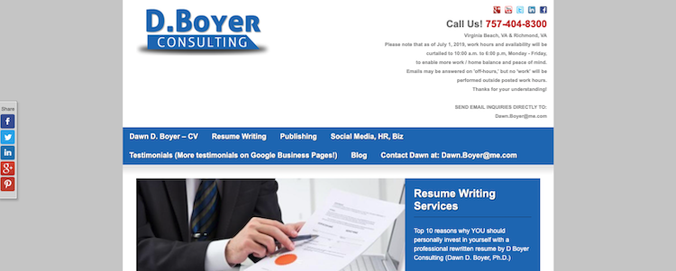 D. Boyer Consulting - Best Virginia Beach Resume Services