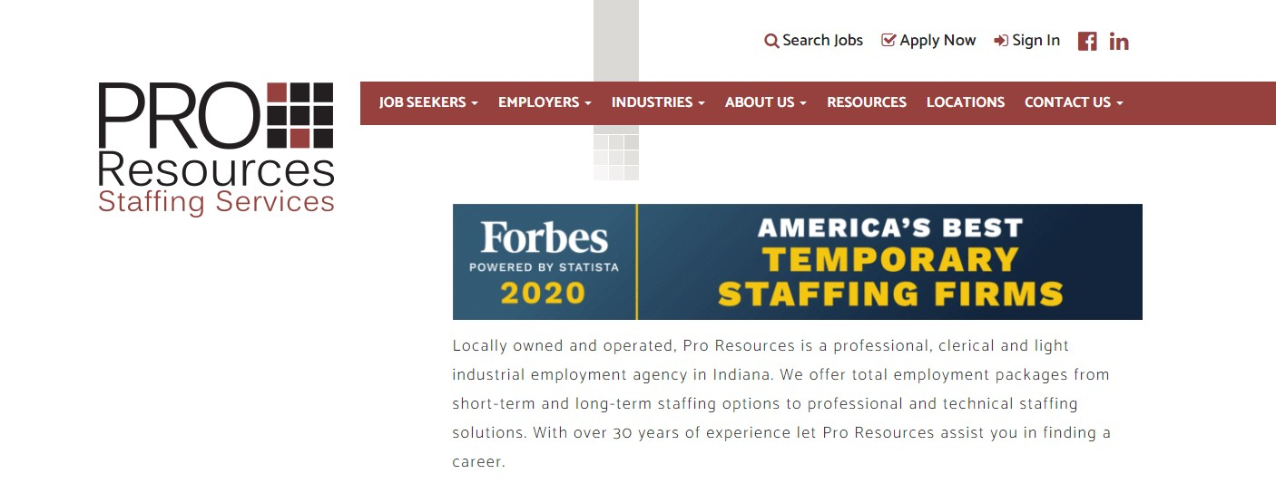 Pro Resources Staffing - Best Indianapolis Staffing Agency