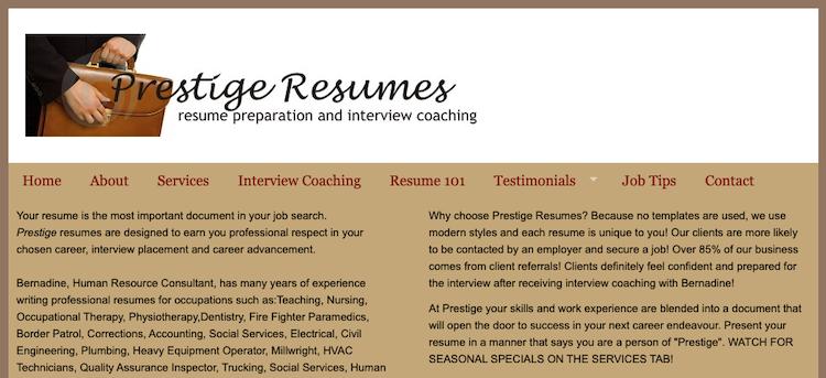 Prestige Resume - Best Winnipeg Resume Services