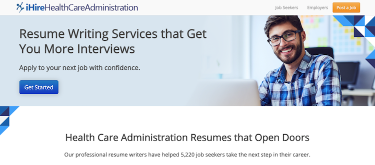 iHire Healthcare Administration - Best Healthcare Resume Service