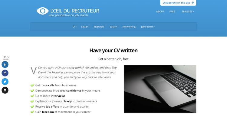 L'oeil du Recruteur - Best Paris Resume Service