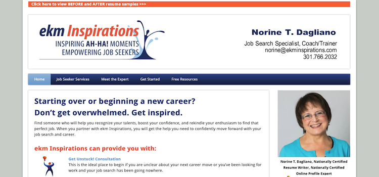 ekm Inspirations - Best Resume Service for Older Workers