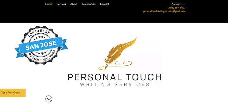 Personal Touch Writing Services - Best San Jose Resume Service
