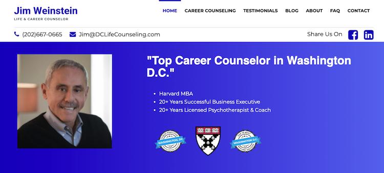 Jim Weinstein - Best Washington DC Resume Services