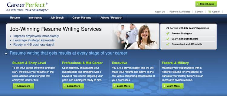Career Perfect - best Recent Graduate Resume Service