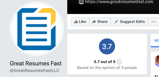 Great Resumes Fast Facebook reviews