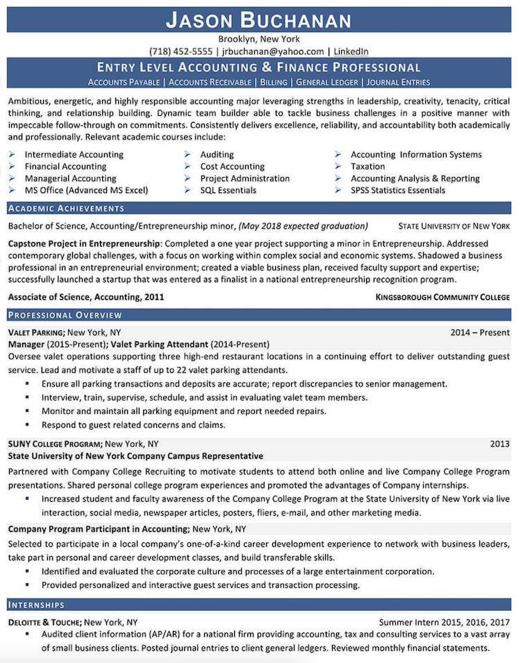 Monster.com - Resume Sample