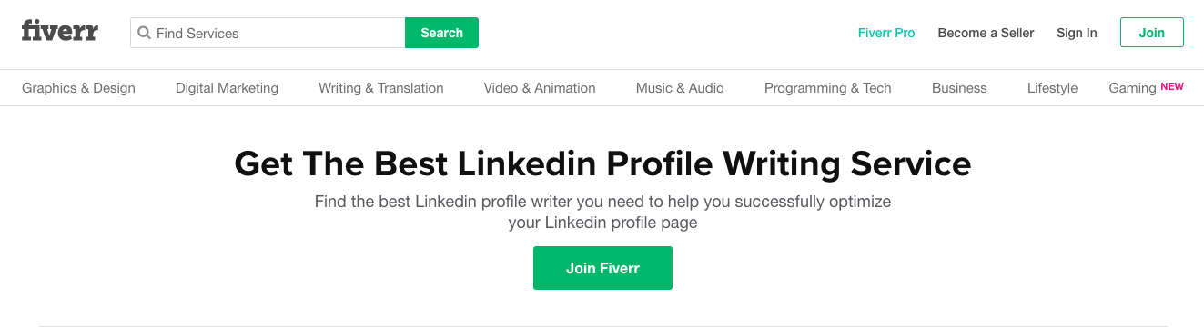 Fiverr - LinkedIn Profile Writing Services