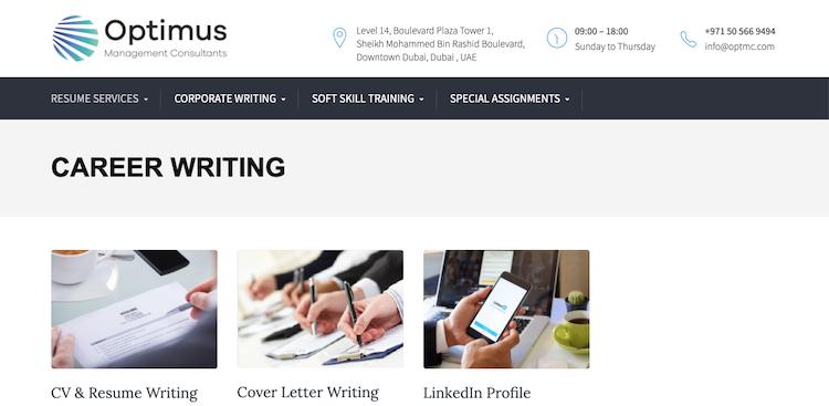 Optimus Management Consultants - Best Dubai Resume Service