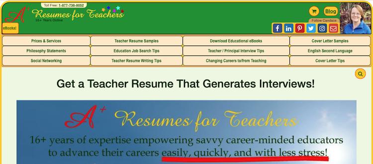 A+ Resume for Teachers - Best Teacher Resume Service