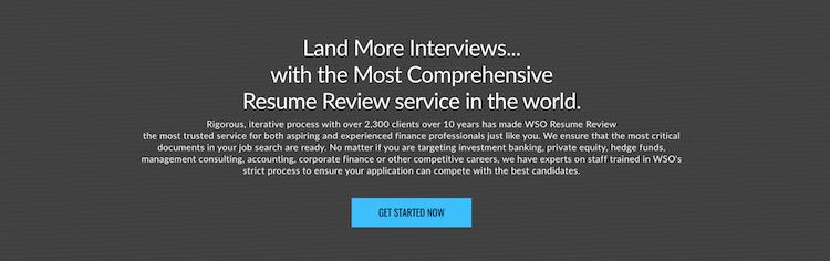 Wall Street Oasis - Best Finance Resume Service