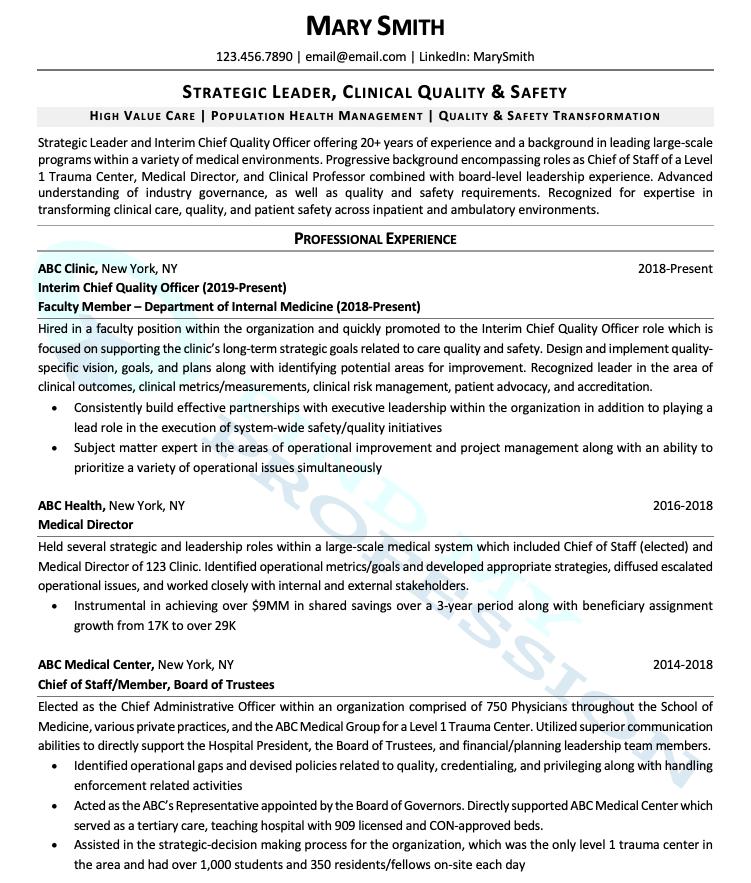 Academic/Research CV Sample
