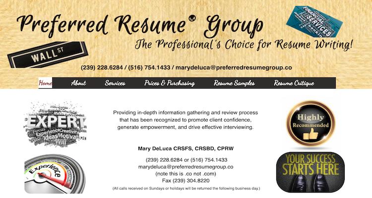 Preferred Resume Group - Best C-Level Resume Service