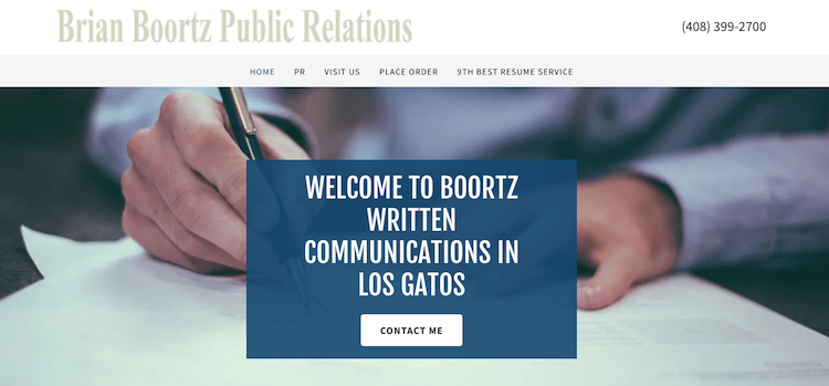 Brian Boortz Public Relations - Best San Jose Resume Service