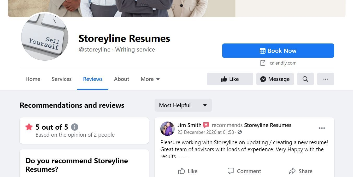 Storeyline Resumes Facebook Reviews