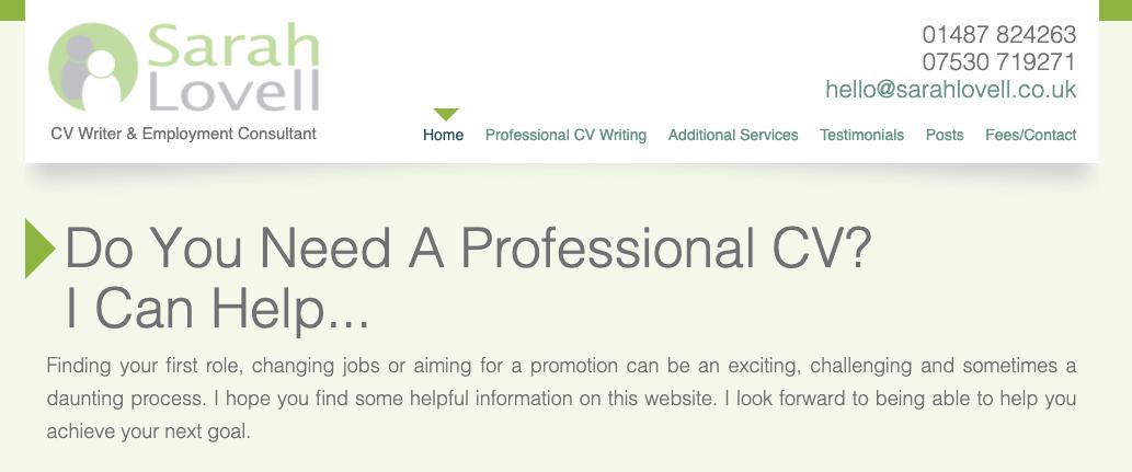 Sarah Lovell - CV Writing Services UK
