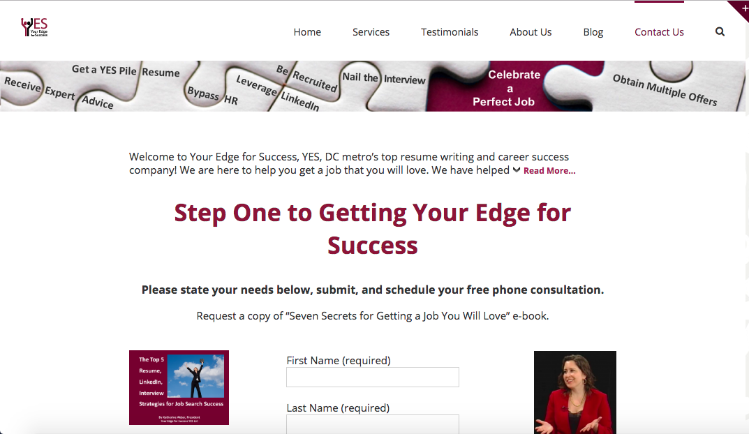 Your Edge For Success, YES - Federal Resume Writing Services