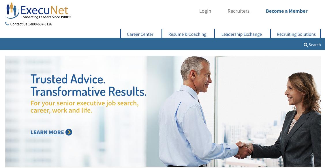 ExecuNet - Executive Job Search Site
