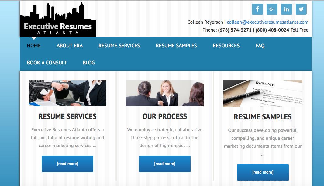 Executive Resumes Atlanta - Sales Resume Service