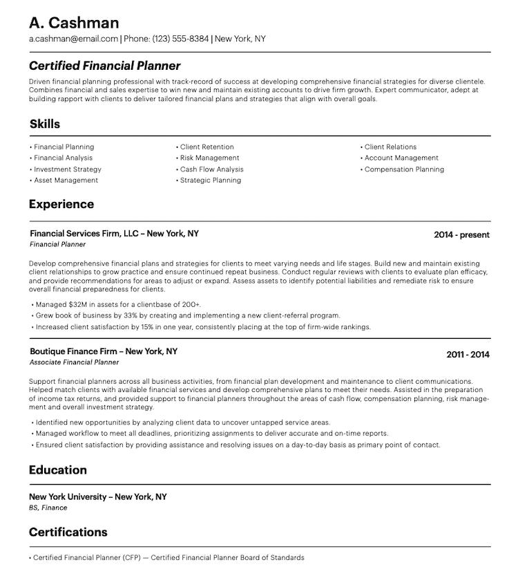 Randstad Resume Sample