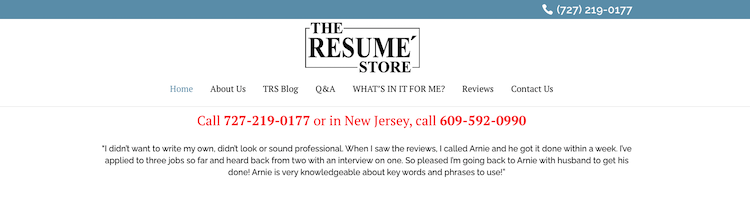 The Resume Store - Best Tampa Resume Services
