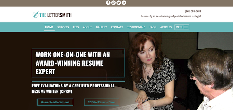 The Lettersmith - Best Detroit Resume Service