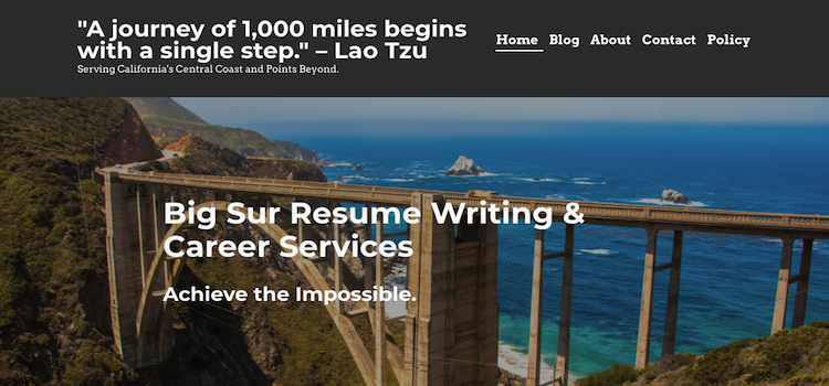 Big Sur Resume Writing - Best Entry-Level Resume Services