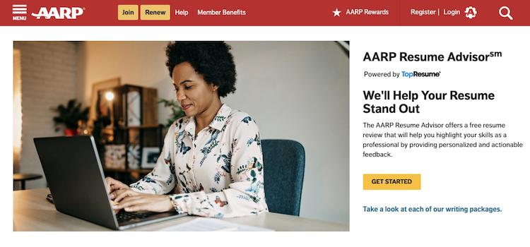 AARP Resume Advisor - Best Resume Service for Older Workers