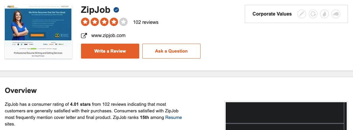 Zipjob Sitejabber reviews