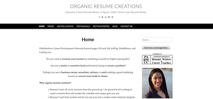Organic Resume Creations - Best Director Resume Service