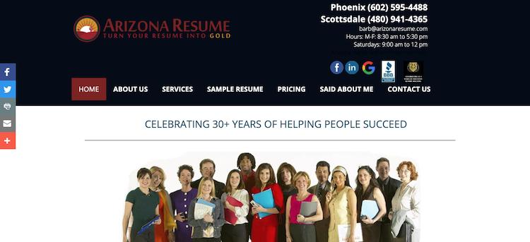 Arizona Resume - Best Phoenix Resume Service