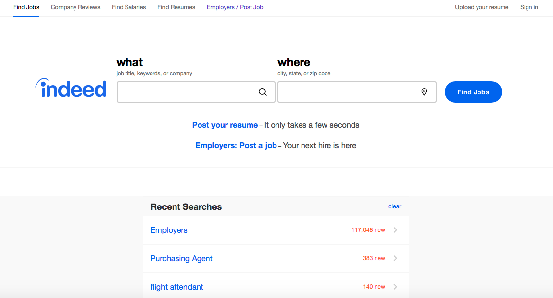 Indeed - Executive Job Search Site