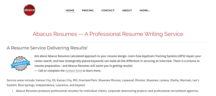 Abacus Resumes - Best Kansas City Resume Service