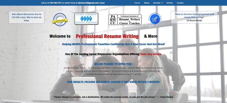 Professional Resume Writing - Best Detroit Resume Service
