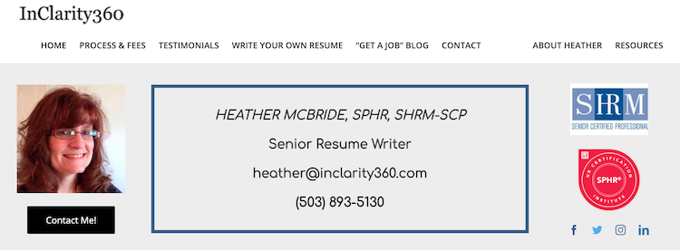 InClarity360 - Best Seattle Resume Services