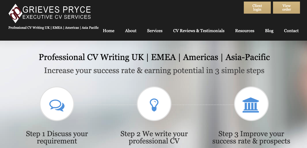 Grieves Pryce - CV Writing Services UK