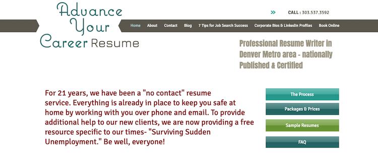 Advance Your Career Resume - Best Denver Resume Service