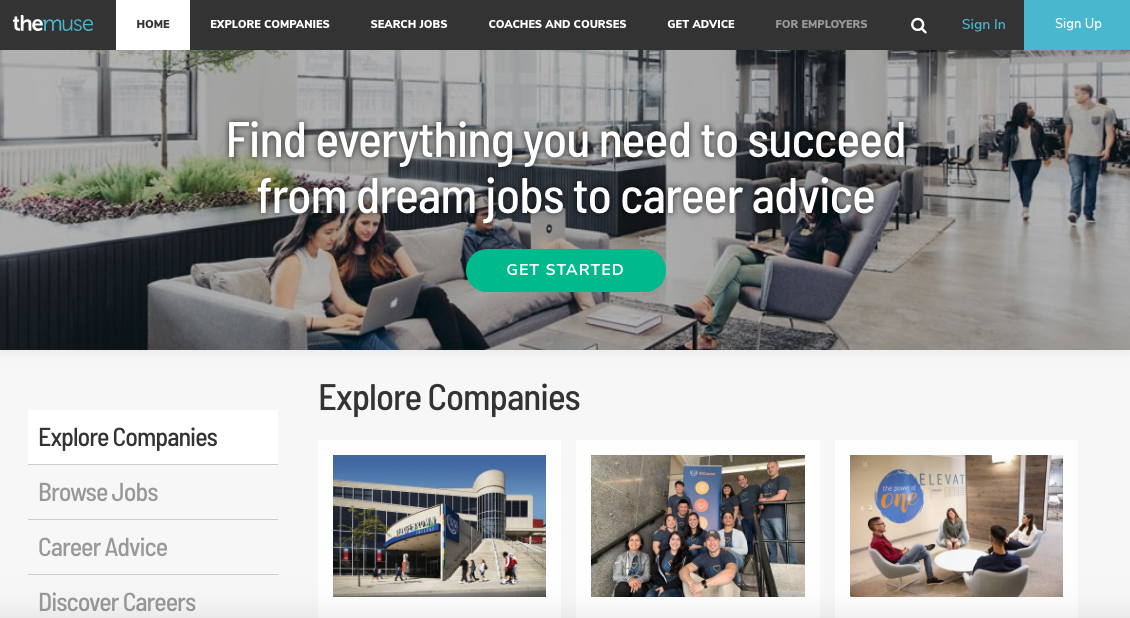 TheMuse - Executive Job Search Site