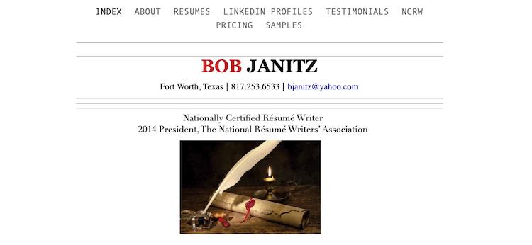 Bob Janitz - Best Fort Worth Resume Service